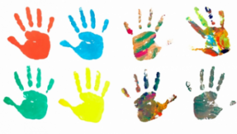 Image: Colored hand prints, picsfive, www.shutterstock.com